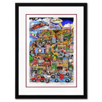 """Charles Fazzino Signed """"Loonywood"""" Custom Framed 3D Limited Edition 24x32 Silk Screen, DX #206/250 at PristineAuction.com"""