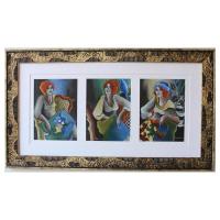 "Patricia Govezensky Signed ""Winter Time"" 21x37 Custom Framed Original Pastel Color on Paper at PristineAuction.com"