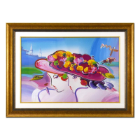 """Peter Max Signed """"Kentucky Oaks"""" 45x33 Custom Framed One-Of-A-Kind Acrylic Mixed Media at PristineAuction.com"""