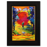 """Peter Max Signed """"A Better World"""" 34x46 Custom Framed One-Of-A-Kind Acrylic Mixed Media at PristineAuction.com"""