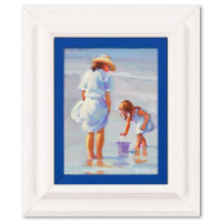 """Lucelle Raad Signed """"Mama and Me"""" 11x13 Custom Framed Original Acrylic Painting on Board at PristineAuction.com"""