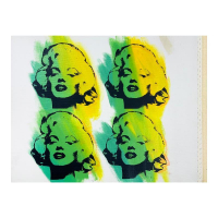 """Steve Kaufman Signed """"Four Marilyns"""" Numbered Limited Edition 13x18 Hand Pulled Silkscreen Mixed Media on Canvas at PristineAuction.com"""