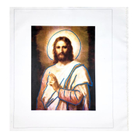 """Steve Kaufman Signed """"Jesus Peace (State 2)"""" Limited Edition 28x23 Hand Pulled Silkscreen Mixed Media on Canvas at PristineAuction.com"""