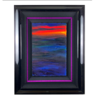 """Wyland Signed """"Abstract"""" 38x30 Original Painting on Paper at PristineAuction.com"""
