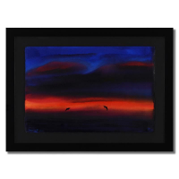 """Wyland Signed """"Warm Sea 19"""" 29x21 Custom Framed Original Watercolor Painting at PristineAuction.com"""