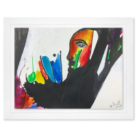 Jenik Cook Signed 23x29 Custom Framed Original Acrylic Painting at PristineAuction.com