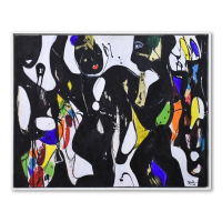 """Jenik Cook Signed """"Dance and Song"""" 41x33 Custom Framed Original Acrylic Painting on Canvas at PristineAuction.com"""