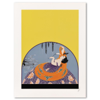 """Erte Signed """"After the Rain"""" Limited Edition 23x30 Serigraph from an AP Edition at PristineAuction.com"""
