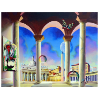 "Ferjo Signed ""Plaza De San Pedro Vaticano"" 24x30 Original Painting on Canvas at PristineAuction.com"