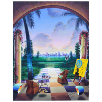 """Ferjo Signed """"Paradise Outside the City"""" 40x30 Original Painting on Canvas at PristineAuction.com"""
