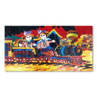 """Paul Blaine Henrie Signed """"Choo-Choo Children"""" 40x72 Original Painting on Canvas at PristineAuction.com"""