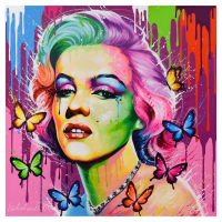 """Alexander Ischenko Signed """"Marilyn Monroe"""" 36x36 Original Acrylic Painting on Canvas at PristineAuction.com"""
