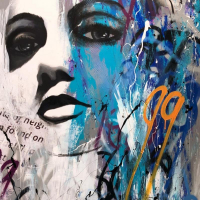 "Jay Johansen Signed ""Urban Innocence"" 40x40 Original Painting on Canvas at PristineAuction.com"