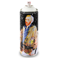 """Mr. Brainwash Signed """"Van Gogh (White)"""" Limited Edition Hand Painted Spray Can #125/150 with Thumbprint at PristineAuction.com"""
