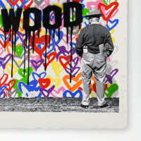 """Mr. Brainwash Signed """"Hollywood"""" Limited Edition 38x31 Custom Framed Silkscreen #59/125 at PristineAuction.com"""