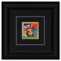 """Peter Max Signed """"Liberty Head XVI"""" Limited Edition 23x23 Custom Framed Lithograph #690/700 at PristineAuction.com"""