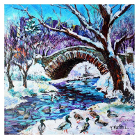 """Yana Rafael Signed """"A Mild Winters Day"""" 30x30 Original Painting on Canvas at PristineAuction.com"""