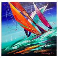 Natalia Sinkovsky Signed 20x20 Original Acrylic Painting on Canvas at PristineAuction.com