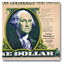 """Steve Kaufman Signed """"George Washington, Father of Our Nation"""" Limited Edition 26x25 Hand Pulled Silkscreen Mixed Media on Canvas at PristineAuction.com"""