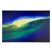 """Wyland Signed """"Untitled"""" 24x36 Original Painting on Board at PristineAuction.com"""