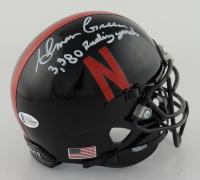 "Ahman Green Signed Nebraska Cornhuskers Mini Helmet Inscribed ""3,380 Rushing Yards"" (Beckett COA) at PristineAuction.com"