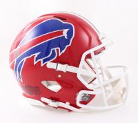 Josh Allen Signed Bills Full-Size Authentic On-Field Speed Helmet (Beckett COA) at PristineAuction.com