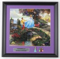 "Thomas Kinkade ""Cinderella"" 16x16 Custom Framed Print Display With Cinderella Pin Set at PristineAuction.com"