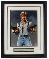 """Chuck Norris Signed """"Invasion U.S.A."""" 16x20 Custom Framed Photo Display (Beckett COA) at PristineAuction.com"""