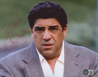 """Vincent Pastore Signed """"The Sopranos"""" 8x10 Photo Inscribed """"Best Wishes"""" (Beckett COA) at PristineAuction.com"""