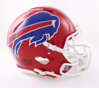 Josh Allen Signed Bills Full-Size Authentic On-Field Speed Helmet (Beckett Hologram) at PristineAuction.com