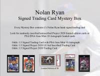 Nolan Ryan Signed Trading Card Mystery Box - Series 1 at PristineAuction.com