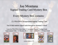 Joe Montana Signed Trading Card Mystery Box - Series 1 at PristineAuction.com