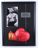 Mike Tyson Signed 17x22 Custom Framed Boxing Glove Display (PSA COA) at PristineAuction.com
