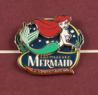 "Disney World ""The Little Mermaid"" 15x25 Custom Framed Vintage Disney World Ticket Book Display & Ride Pin at PristineAuction.com"