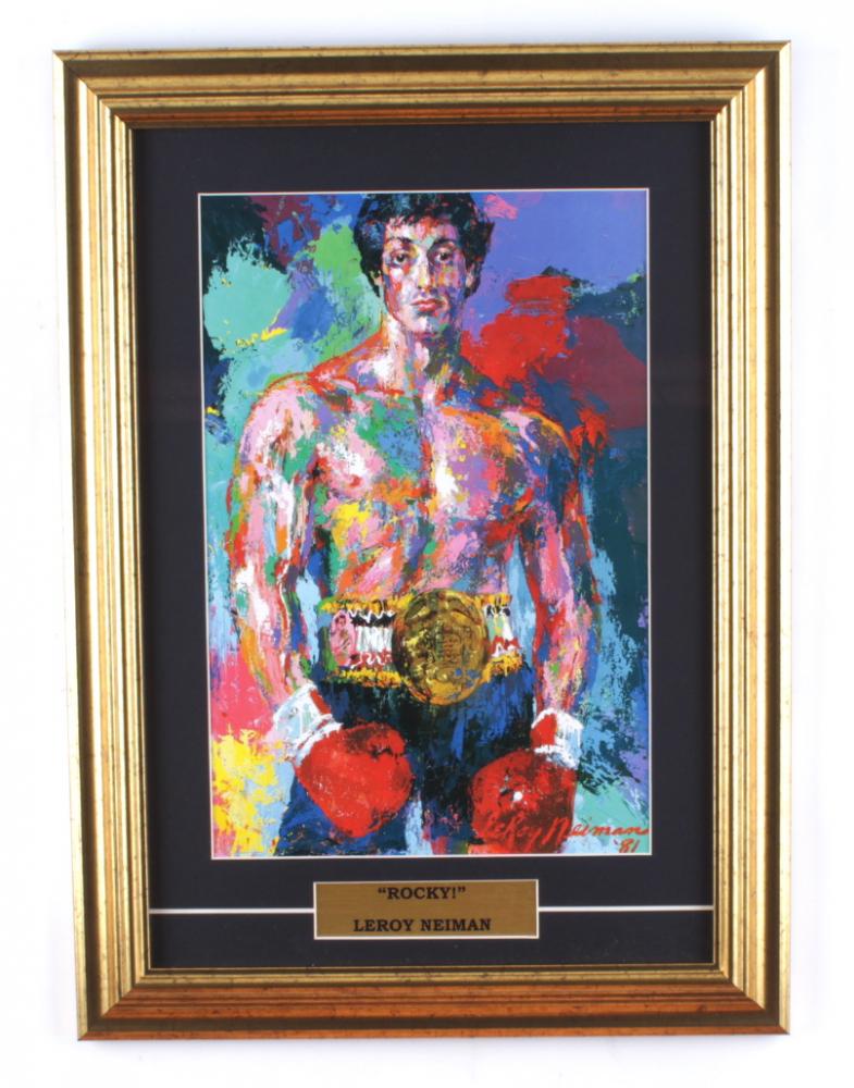 "LeRoy Neiman ""Rocky!"" 13.5x19 Custom Framed Print Display at PristineAuction.com"