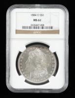 1884-O Morgan Silver Dollar (NGC MS61) at PristineAuction.com
