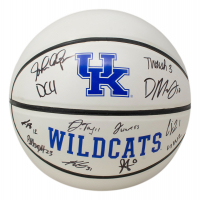 2021 Kentucky Wildcats Logo Basketball Team-Signed by (12) with Dontaie Allen, Lance Ware, Keion Brooks Jr., Jacob Toppin (Beckett Hologram) at PristineAuction.com