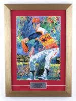 "Nolan Ryan Signed 13x18 Custom Framed LeRoy Neiman Vintage Art Print Inscribed ""H.O.F. '99"" (PSA COA) at PristineAuction.com"