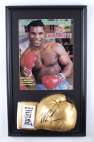 Mike Tyson Signed 16x26 Custom Framed Boxing Glove Display (PSA COA) at PristineAuction.com