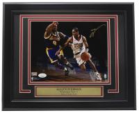 Allen Iverson Signed 76ers 11x14 Custom Framed Photo Display (JSA Hologram) at PristineAuction.com