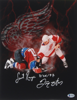 """Darren McCarty Signed Red Wings 11x14 Photo Inscribed """"Sweet Revenge"""" & """"3/26/97"""" (Beckett COA) at PristineAuction.com"""
