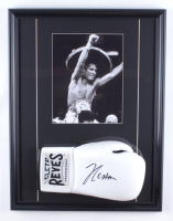 Julio Cesar Chavez 17x22 Custom Framed Boxing Glove Display (PSA COA) at PristineAuction.com