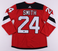 """Ty Smith Signed Devils Jersey Inscribed """"1st NHL Goal 1/14/2021"""" (COJO COA) at PristineAuction.com"""
