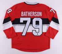 "Drake Batherson Signed Senators 100th-Anniversary Jersey Inscribed ""1st NHL Goal 11/15/2018"" (COJO COA) at PristineAuction.com"