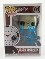 "Kane Hodder Signed ""Friday the 13th"" #01 Jason Voorhees Funko Pop! Vinyl Figure Inscribed ""Jason, 7, 8, 9, X"" (Beckett Hologram) at PristineAuction.com"