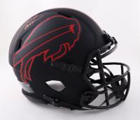 Josh Allen Signed Bills Full-Size Authentic On-Field Eclipse Alternate Speed Helmet (Beckett COA) at PristineAuction.com