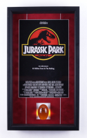 """""""Jurassic Park"""" 16x25x3 Custom Framed Movie Poster Shadowbox Display with Replica Mosquito in Amber Movie Prop at PristineAuction.com"""