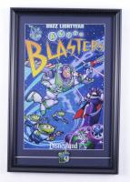 "Disneyland's ""Buzz Lightyear Astro Blasters"" 15x22 Print Display with Buzz Lightyear Astro Blasters Official Ride Pin at PristineAuction.com"