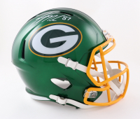 Jordy Nelson Signed Packers Full-Size Flash Alternate Speed Helmet (Beckett Hologram) at PristineAuction.com