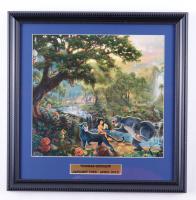 "Thomas Kinkade ""The Jungle Book"" 16x16 Custom Framed Print Display at PristineAuction.com"